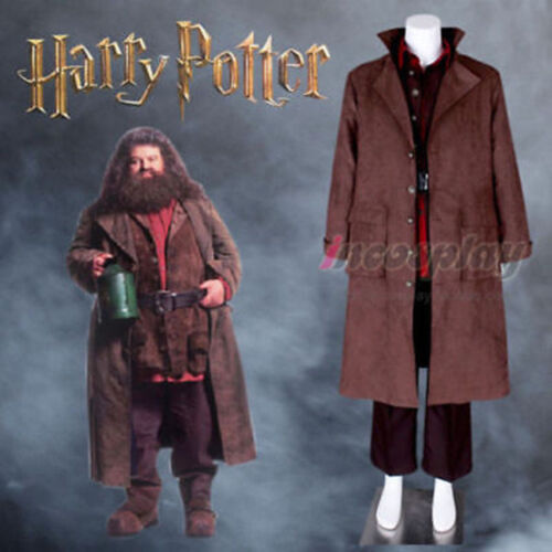 HAGRID GIANT Wizard School Adult Costume Cosplay Outfits Jacket Set   FF.1050