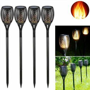 6X LED Solar Flamme Fackel Flackernde Landschaft Lampe Garten Wasserdicht Licht