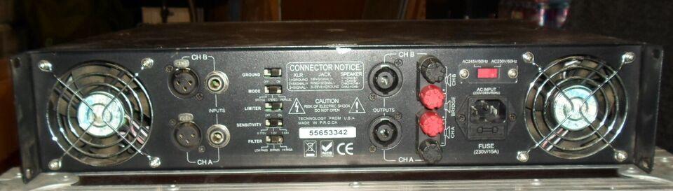 Effektforstærker, American Audio V 1500