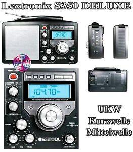 Lextronix-S-350-DLB-Woldradio-Weltempfaenger-GLOBOTRON-Radio-Receiver-UKW-MW-neu