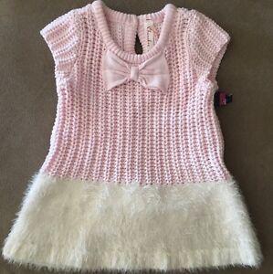 e7c2a3b7e5a2 NWT  Cherokee Girls Sweater Dress   Bloomers Size 3-6 Months Pink ...