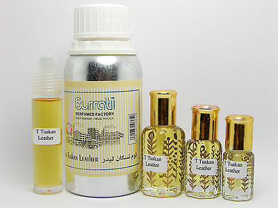Tuscan Leather Concentrated Perfume Oil Alcohol Free Attar by SURRATI Perfumes