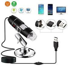 1600x 8led Otg Usb Digital Microscope Endoscope Zoom Camera Magnifier Stand