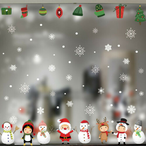 Snowflake Decor Christmas Wall Sticker Home DIY Decals For Door And Window US
