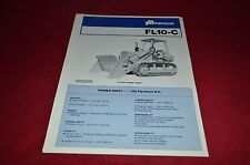 Fiat Allis Chalmers FL10-C Crawler Loader Dealer's Brochure YABE11 Ver87