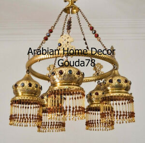 Jeweled Br Chandelier Ceiling