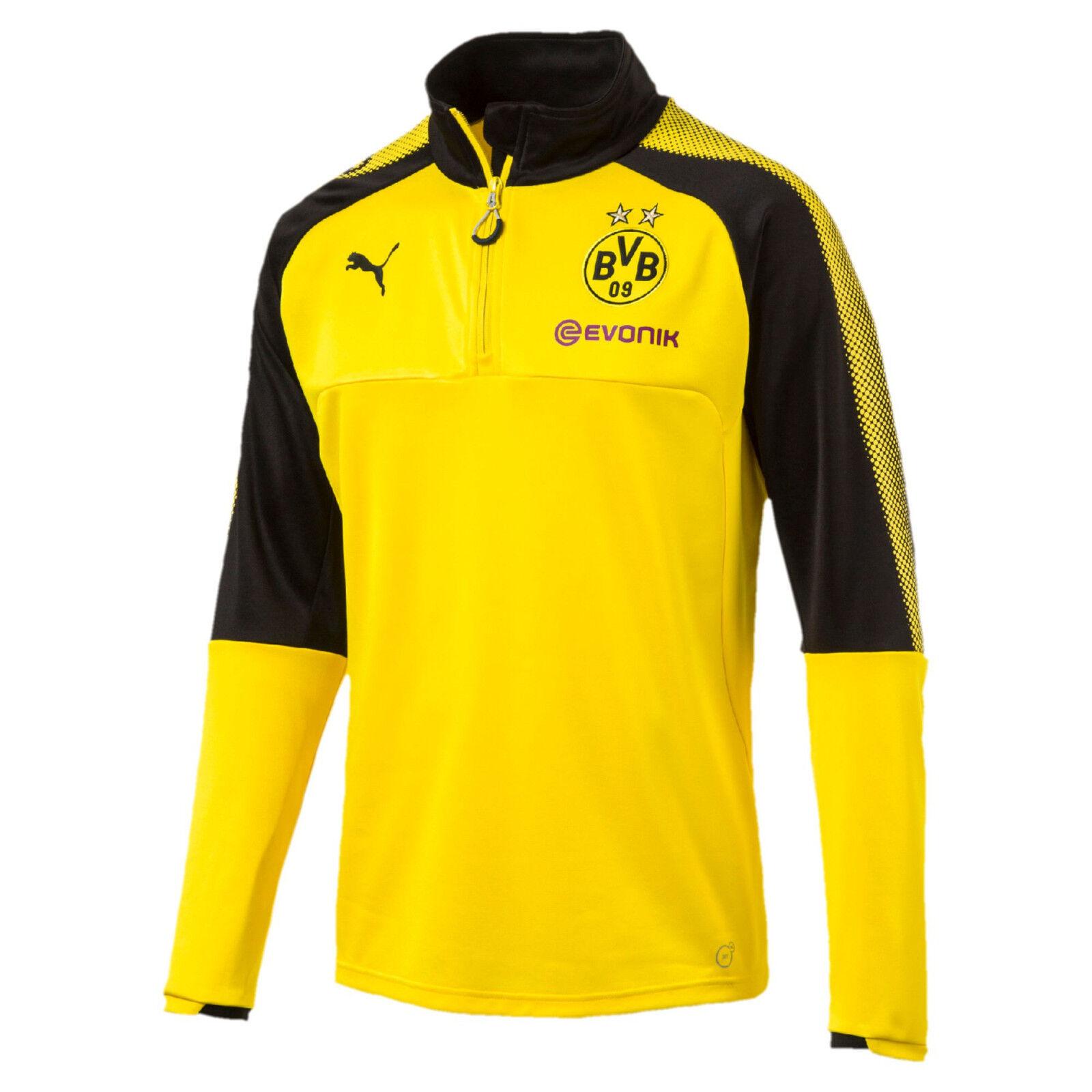 Puma BVB Borussia Dortmund Official 2017 - 2018 Soccer DryCell Training Top Yell