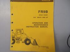 Fiat Allis Fr9b Wheel Loader Operation Maintenance Instruction Manual