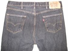 Levi's 501 Tagged 38/36 Actual Size 35 1/4 X 33 Black Button Fly Men's Jeans