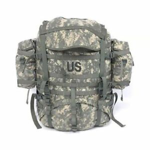 U.S. Military MOLLE II ACU Field Pack Backpack w/ 2 Sustainment Pouches