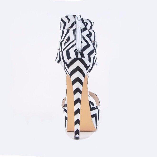 UK Women's Open Toe High Heel Platform Sandals Zip Ankle Ankle Ankle Boots Party shoes Size 88e6d6