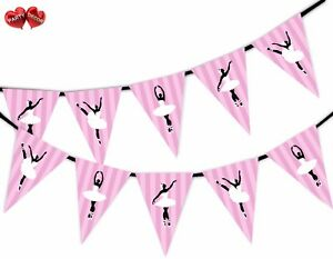 Ballerina-in-Dance-Ballet-Themed-Bunting-Banner-15-flags-by-PARTY-DECOR