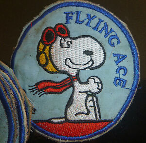 SNOOPY-OPS-RED-BARON-FLYING-ACE-Patch-USAF-20th-TASS-Vietnam-War-B