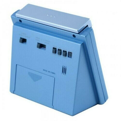 Casio DQ750F-2D Blue LED Light Digital Alarm Desk Clock Thermometer Snooze NEW