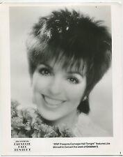 Carnegie Hall Tonight   Liza Minnelli in Concert  Press Photo MBX80