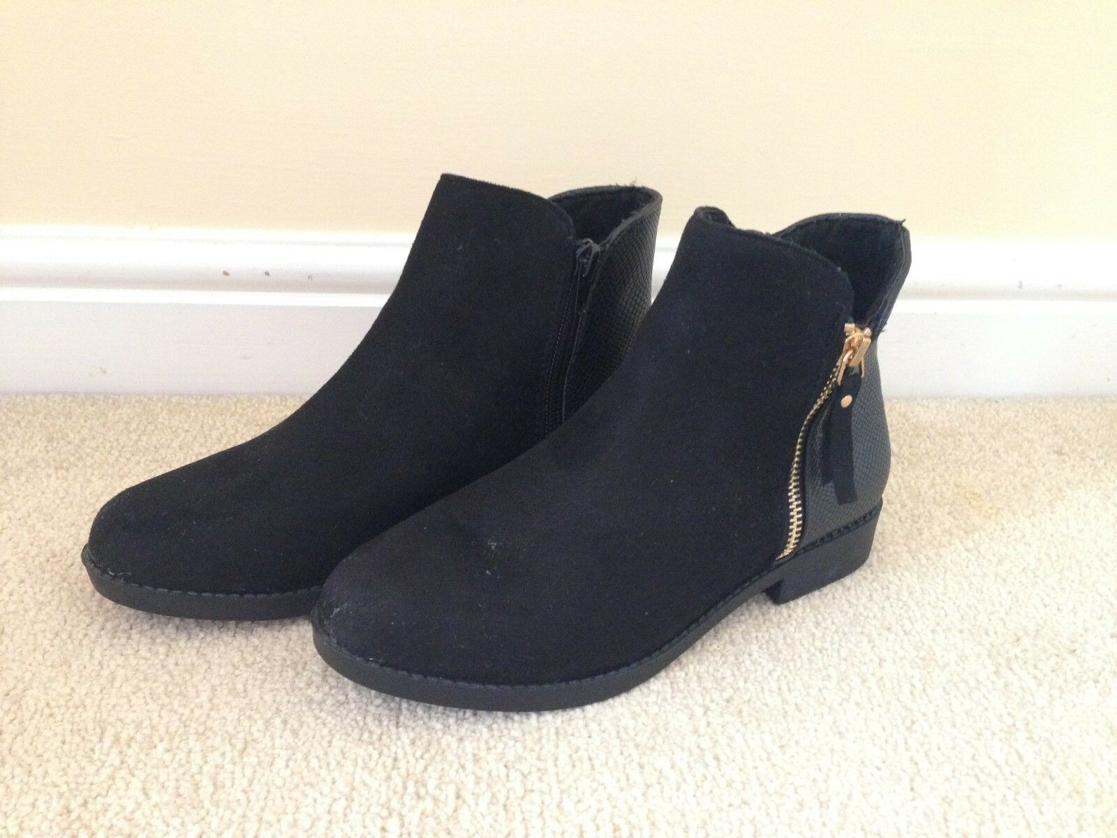 Men's/Women's black winter boots, Size 3 Charming design high excellent quality Known for its excellent high quality ffe27b
