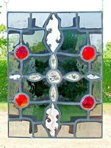 Bleiverglasung-Bleiglas-Fensterbild-sakrales-abstraktes-modernes-Kreuz