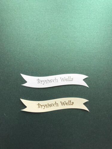 galés obtener bien pronto Brysiwch Wells pancartas//Tarjeta Toppers pk10