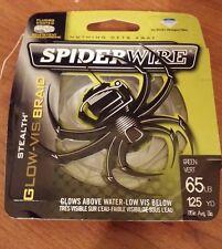 SPIDERWIRE STEALTH GLOW-VIS Braid Fishing Line 65 lb. 125 yd. Spider Wire