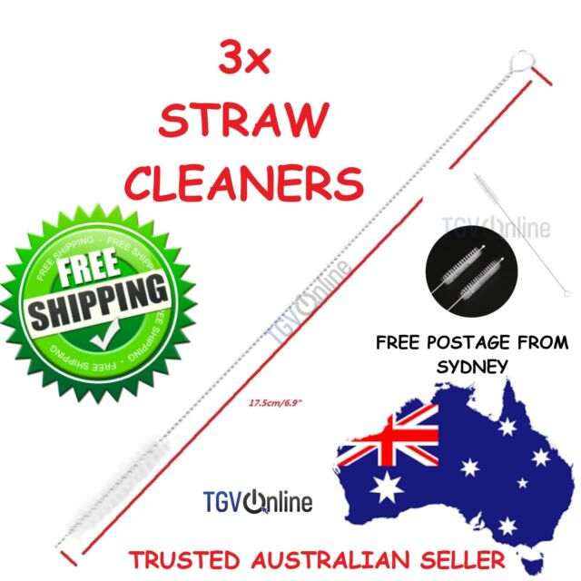 3X Stainless Steel Straws Brush Nylon Pipette Cleaners Drinking Straw Pipe Metal
