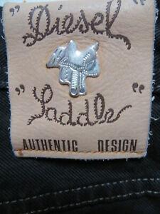 Diesel Saddle Jeans Hose W 32 /L 34 Silber Sattel weiter Oberschenkel, Wie NEU !