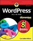 WordPress All-in-One For Dummies by Lisa Sabin-Wilson (Paperback, 2017)