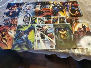 1994-Marvel-Flair-Prints-Complete-Set-10-Jumbo-Cards-ONLY-MINT-Condition