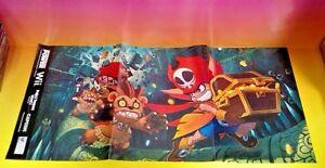 NEW-Zack-Wiki-Project-Treasure-isLand-Z-Nintendo-Power-Original-RARE-Poster-Wii