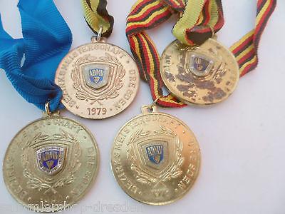 Schlussverkauf 1977410 4x Medaille Admv Bezirksmeisterschaft Rallye Dresden 1976 1978 1979 1980 Elegantes Und Robustes Paket
