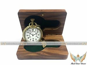 df4951fb9 Image is loading Nautical-Brass-Timekeeper-Antique-Pocket-Watch-Clocks-With-
