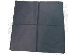 4baa8e3172f Chargement de l image en cours Bandana-noir-uni-foulard-carre-coton-55-cm-