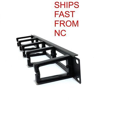 19 INCH 1u HORIZONTAL CABLE MANAGEMENT SERVER RACK MOUNT WIRE ORGANIZER NEW