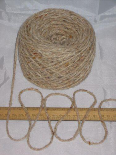 100g ball Aran Cream Oatmeal Tweed 100/% Pure Wool British Breed knitting EFW 601