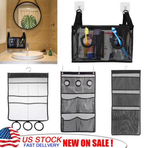 Packable Mesh Hanging Shower Bag Caddy Tub Bathroom Tote Bath Pocket Organizer