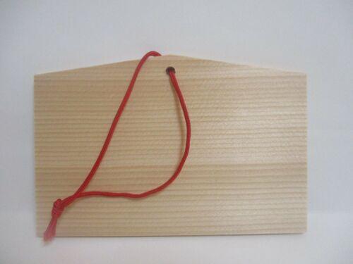 Japanese  DARUMA  Fortune rise Wood Lucky Prayer Board  EMA 135×90×80mm