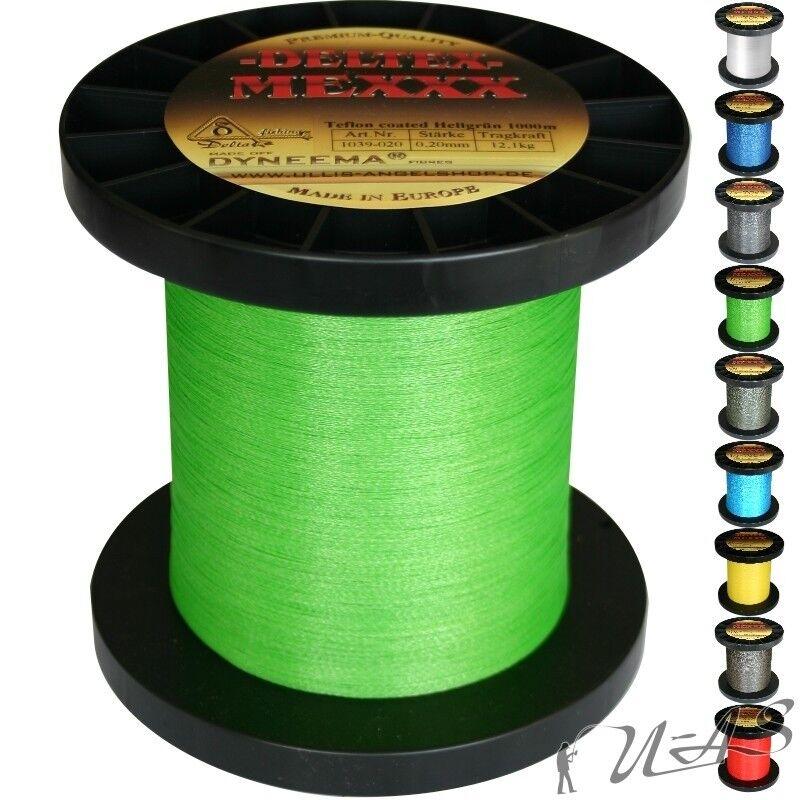 Deltex mexxx Hi-Tec circa intrecciato lenza TEFLON 0,30 1000mh-Verde SHA