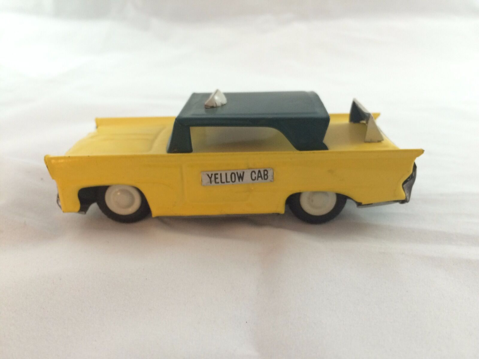 Vintage Tin Friction Yellow Taxi Cab Japan 1960's