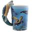thumbnail 15 - Animal Shaped Handle Ceramic Mug Tea Coffee Cup Novelty Gift Jungle Tropical