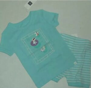 Girls' Clothing (newborn-5t) Sleepwear New Baby Gap Pajama 12 18 Month Girls Pool Party Short Sleeve Pjs Shorts