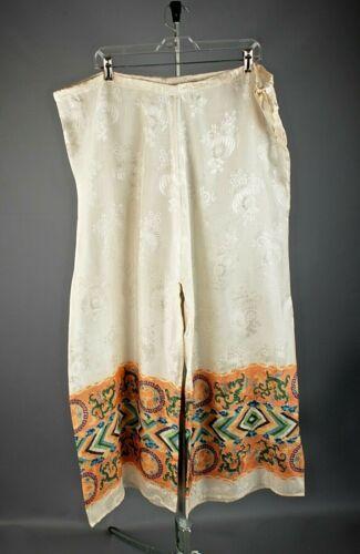 VTG Women's 1940s 1950s Wide Leg Chinese Pajama Pa