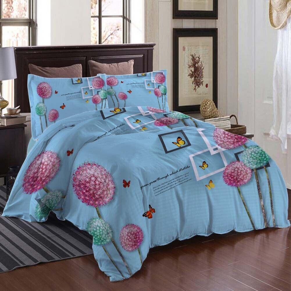rot Nice Dandelion 3D Druckening Duvet Quilt Will Startseites Pillow Case Bettding Sets