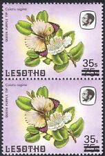 """Lesotho 1986 Surcharge 35s on 75s/""""S""""/""""s""""/Butterflies/Insects/Nature pr (n43234)"""