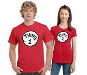 THING 1 THING 2 DR.SEUSS T SHIRT ALL SIZES ADULT and YOUTH SIZES