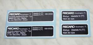 BMW-e21-RECARO-sitze-aufkleber-set