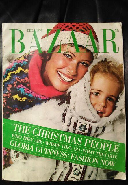 Vintage Harper's Bazaar December 1970 Christmas issue