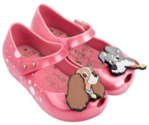 toddler size 5-12 NEW Mini Melissa Ultragirl Lady and the Tramp Pink Azalea