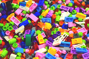 250-Small-Lego-Detail-pieces-All-Girl-Colors-Pastel-purple-pink-Build-legos