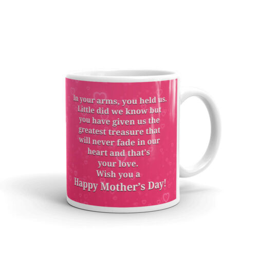 Mothers Day in Your Arms You Held Us Coffee Tea Ceramic Mug Office Work Cup Gift