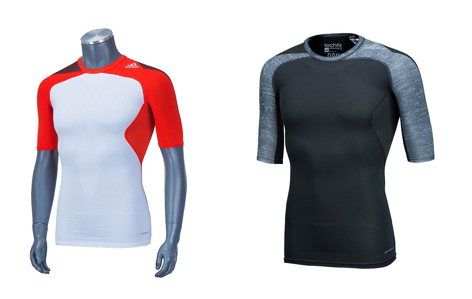 Adidas Techfit Cool S S de súperdry M66502 S19444 Fútbol Gimnasio Climacool T-Shirts