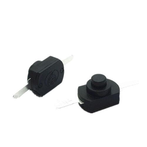 10x 1A 30V DC 250V Black Latching On Off Mini Torch Push Button Switch ZY